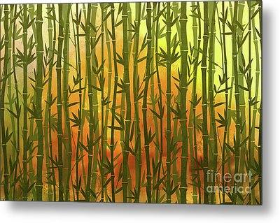 Bamboo Forest Metal Print by Bedros Awak