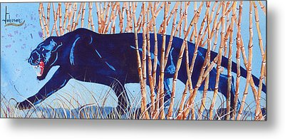 Bamboo Panther Metal Print by Larry  Johnson