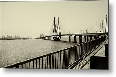 Bandra Worli Sea Link Metal Print by For me, photographs are a great medium to tell a story. Whe