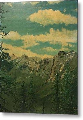 Metal Print featuring the painting Banff by Terry Frederick