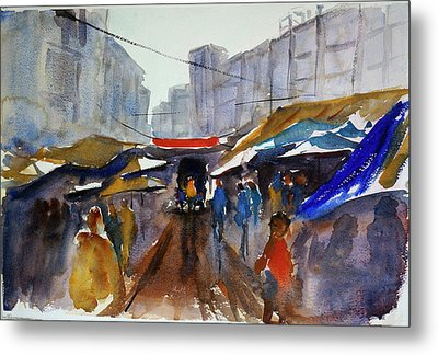 Bangkok Street Market Metal Print by Tom Simmons