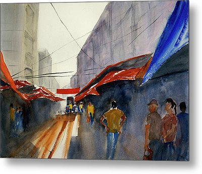 Bangkok Street Market2 Metal Print by Tom Simmons