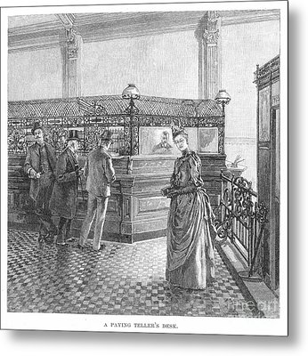 Banking, 19th Century Metal Print by Granger