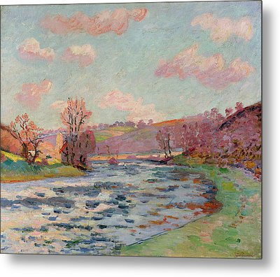 Banks Of The Creuse Metal Print by Jean Baptiste Armand Guillaumin