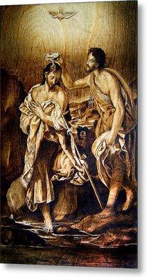 Baptism Of Christ Metal Print by Dino Muradian