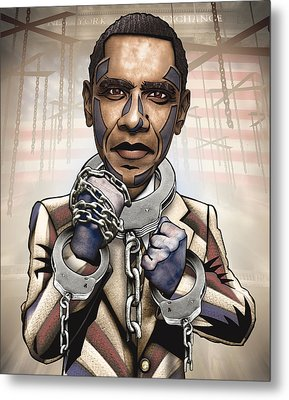 Barack Obama - Stimulate This Metal Print by Sam Kirk