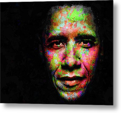 Barack Obama Metal Print by Svelby Art