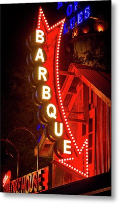 Metal Print featuring the photograph Barbeque Smokehouse by Mark Andrew Thomas