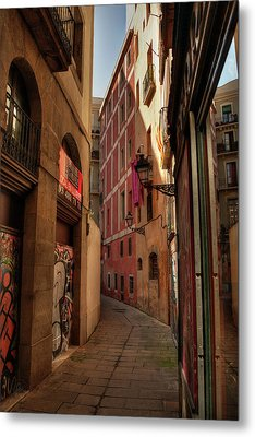 Metal Print featuring the photograph Barcelona - Gothic Quarter 003 by Lance Vaughn