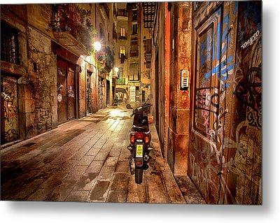 Barcelona Nights Metal Print by Janet Meehan