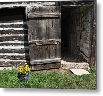 Metal Print featuring the photograph Barn Door by Joanne Coyle