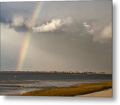 Barnstable Harbor Rainbow Metal Print by Charles Harden