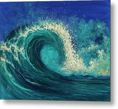 Metal Print featuring the painting Barrel Wave by Darice Machel McGuire