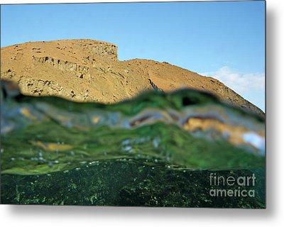Bartolome Island Rock And Water Surface Metal Print by Sami Sarkis