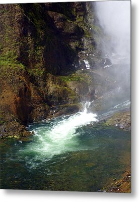 Base Of The Falls 1 Metal Print by Marty Koch