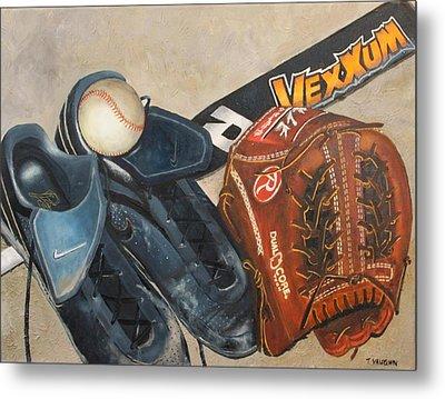 Baseball Allstar Metal Print by Teri Vaughn