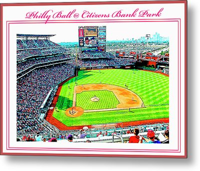 Baseball In Philly Metal Print