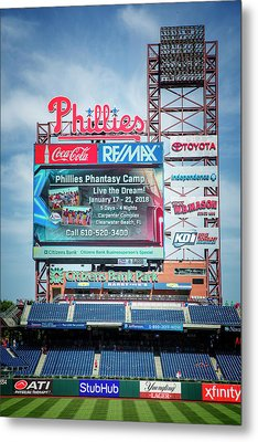 Baseball Time In Philly Metal Print