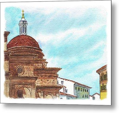 Basilica San Lorenzo Florence Italy Metal Print