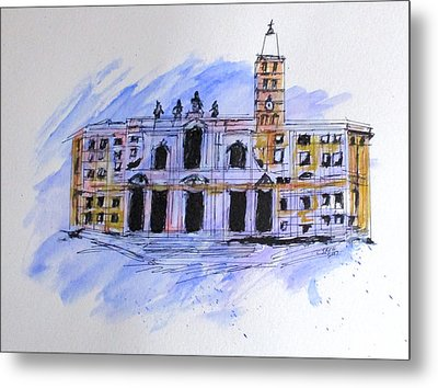 Basilica St Mary Major Metal Print by Clyde J Kell