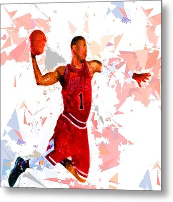 Metal Print featuring the painting Basketball 1 by Movie Poster Prints
