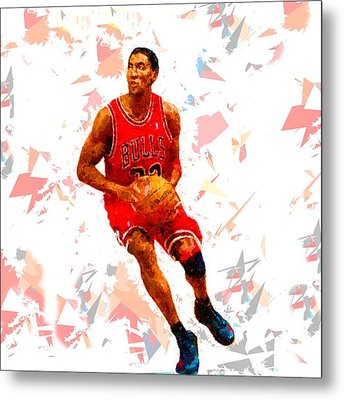Metal Print featuring the painting Basketball 33 by Movie Poster Prints
