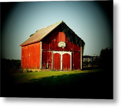 Basketball Barn Metal Print