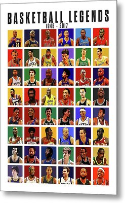 Basketball Legends Metal Print