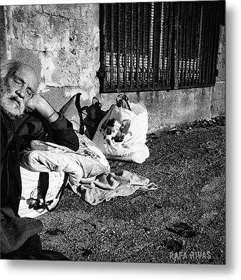 Basking Basque  #man #portrait Metal Print by Rafa Rivas