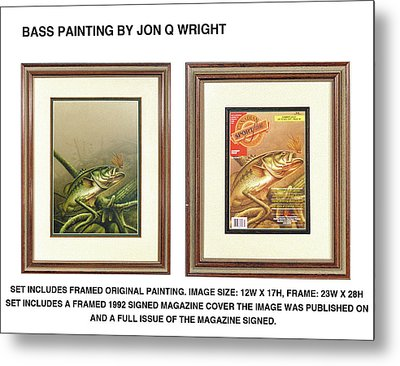 Bass And Log Metal Print by Jon Q Wright