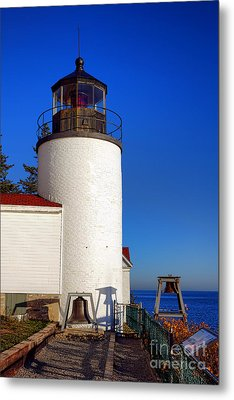 Bass Harbor Head Lighthouse Metal Print by Olivier Le Queinec