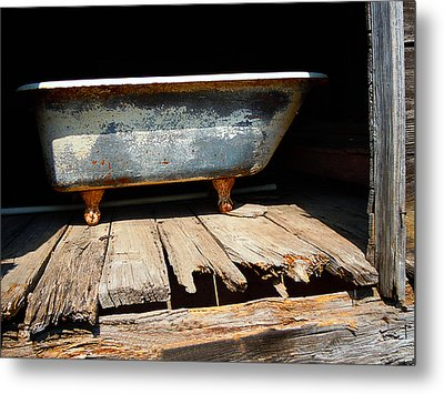 Bath Weight Limit Metal Print