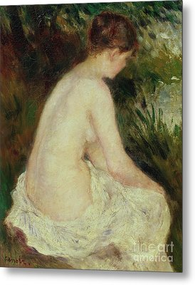Bather Metal Print by Pierre Auguste Renoir