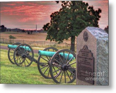 Battery F Cannon Gettysburg Battlefield Metal Print by Randy Steele
