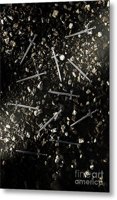 Battle Blades Metal Print