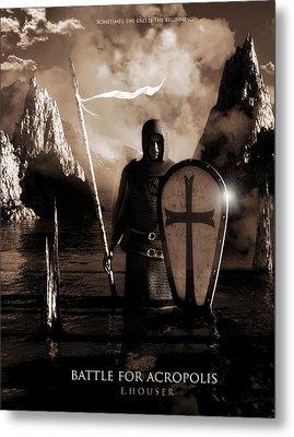 Metal Print featuring the digital art Battle For Acropolis by Everett Houser