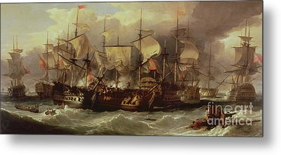 Battle Of Cape St Vincent Metal Print by Sir William Allan