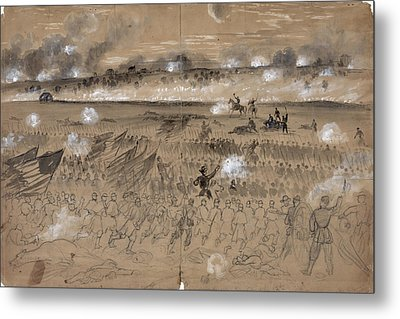 Battle Of Fredericksburg Metal Print by Granger
