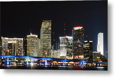Bay Front Miami Skyline Metal Print
