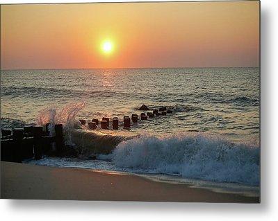 Bay Head Beach Sunrise 1 Metal Print
