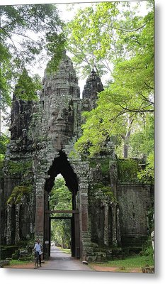 Bayon Gate Metal Print by Marion Galt