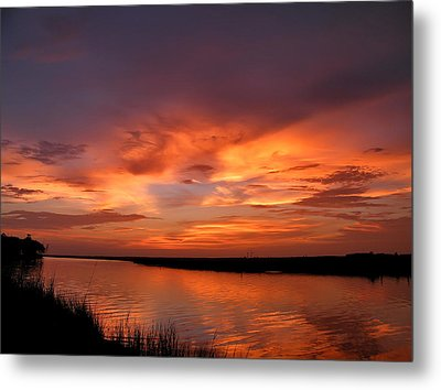 Bayou Sunset Metal Print by Brian Wright
