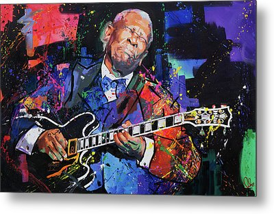 Bb King Metal Print by Richard Day
