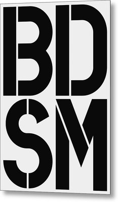 Bdsm Metal Print by Three Dots