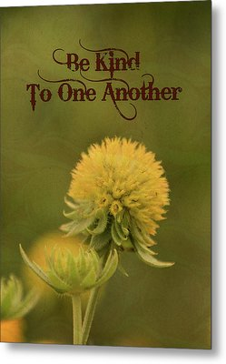 Metal Print featuring the mixed media Be Kind To One Another by Trish Tritz