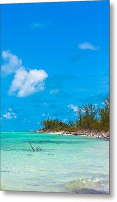 Beach At North Bimini Metal Print