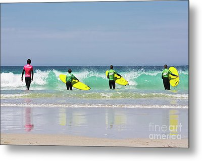 Metal Print featuring the photograph Beach Boys Go Surfing by Terri Waters