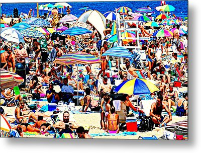 Beach Chaos Metal Print by Diana Angstadt