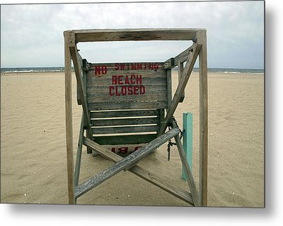Beach Closed Metal Print by Mary Haber