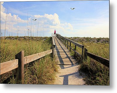Beach Entrance Metal Print by Rosalie Scanlon
